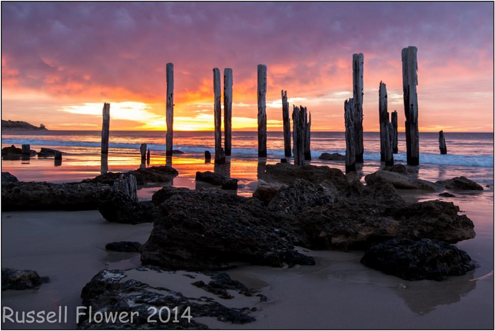 Photo in Landscape #port willunga #sunset #jetty