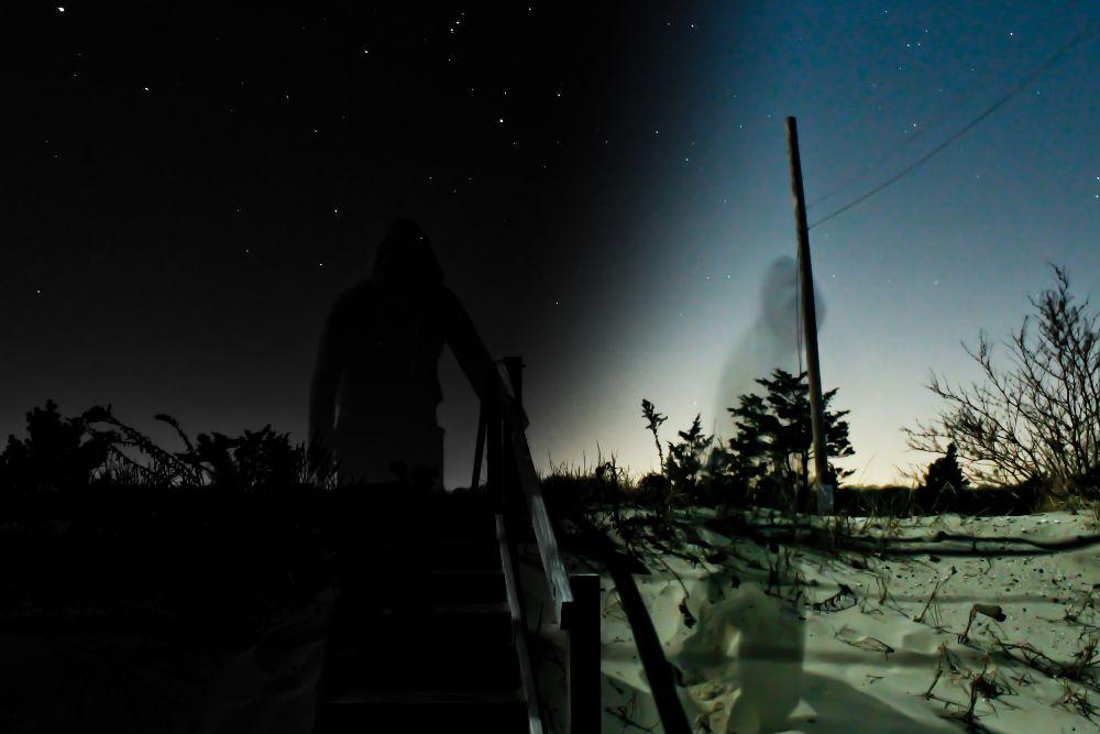 Photo in Abstract #night #sky #stars #sand #beach #moonlight #gradient #long exposure