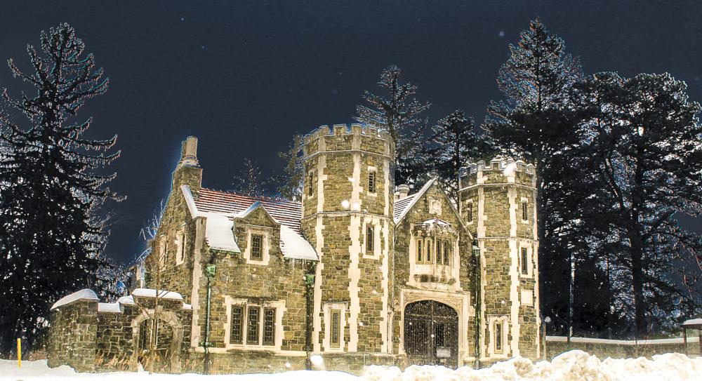 Photo in Architecture #bard college #ward manor gatehous #dutchess county #winter