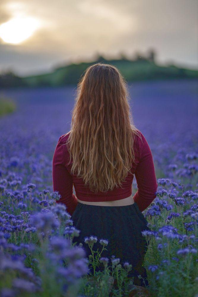 Photo in Random #hair #girl #field #back #red #head