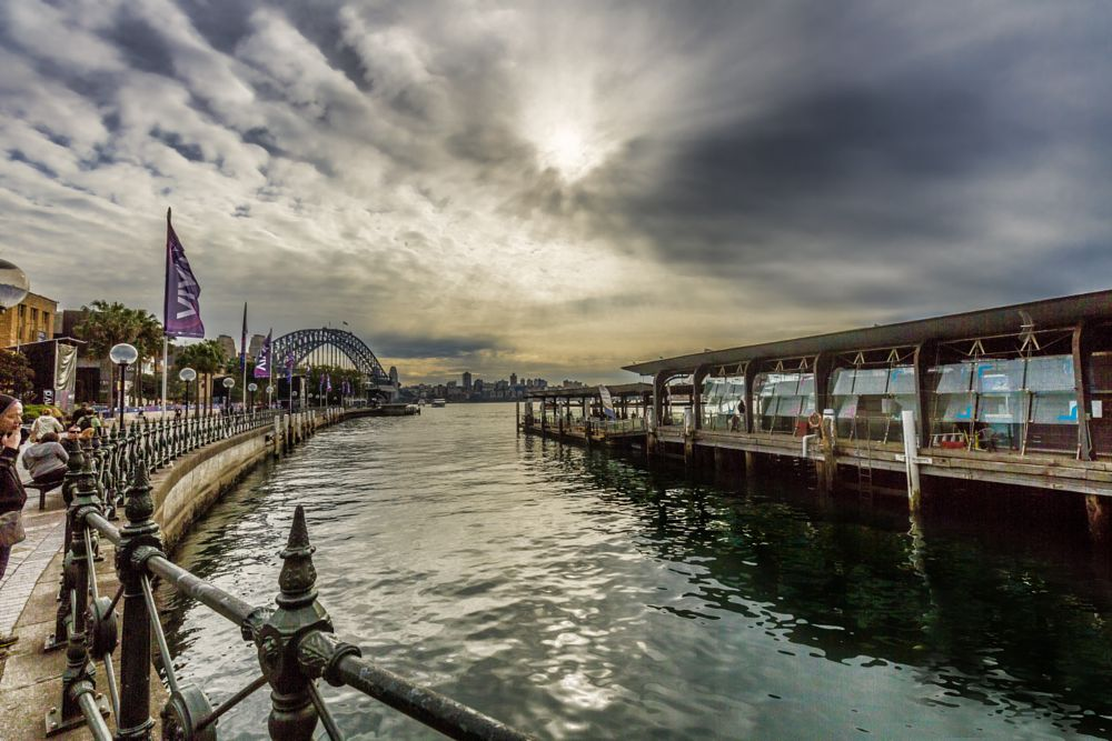 Photo in Cityscape #landscape #people #transport #harbor #clouds #still photography