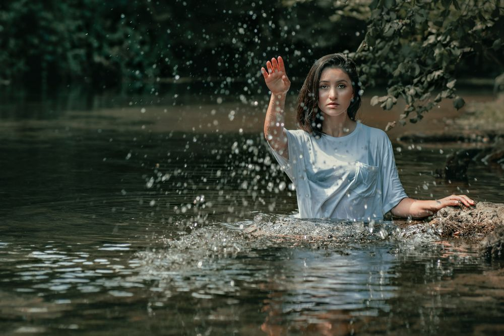 Photo in Still Life #portrait #people #girl #women #beauty #sensuality #cute #pretty #glamour #lifestyle #summer #water #river #riverside #nature #outdoors