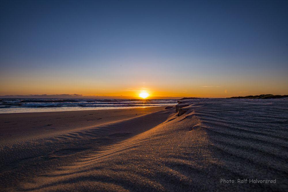Photo in Landscape #beach #sand #sanddunes #sunset #orange #blue #skye #ocean #weater