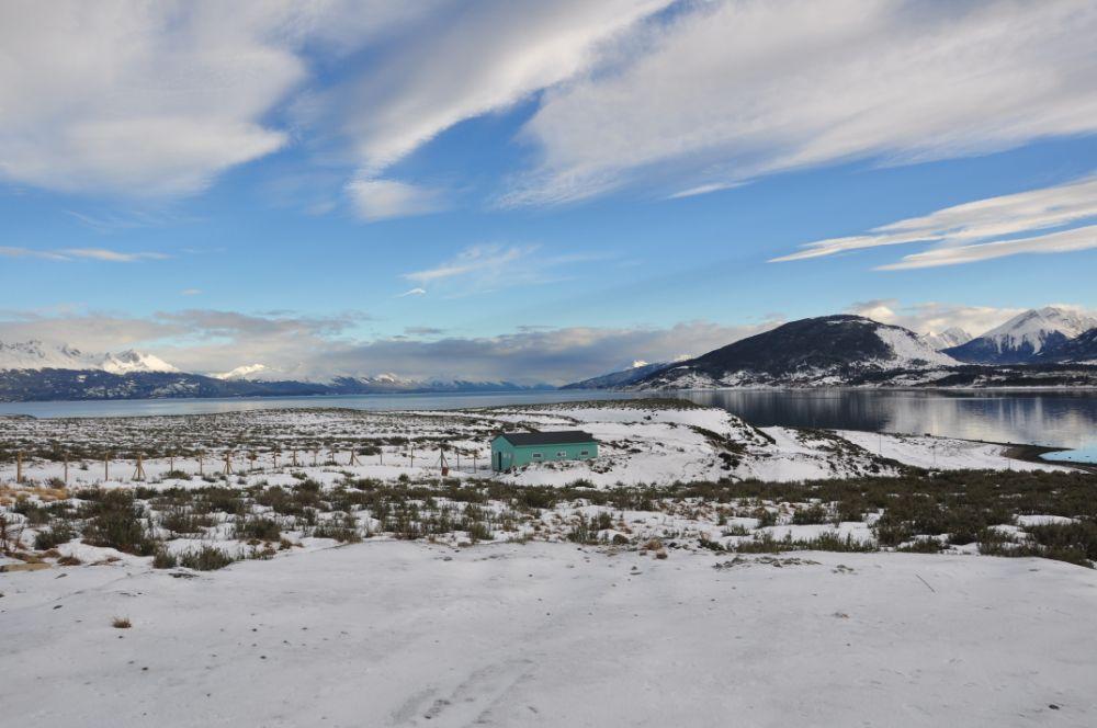 Photo in Landscape #blue #mountain #lake #azul #snow #neve #nieve #cielo #ushuaia #argentina