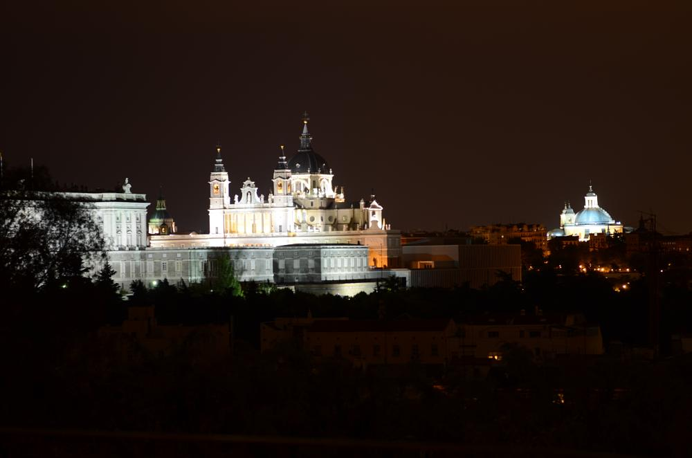 Photo in Architecture #palace #royal #madrid #night #almudena #cathedral