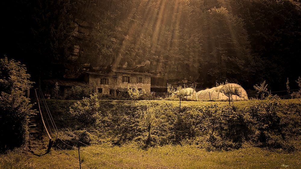 Photo in Architecture #nature #summer #light #sun #trees