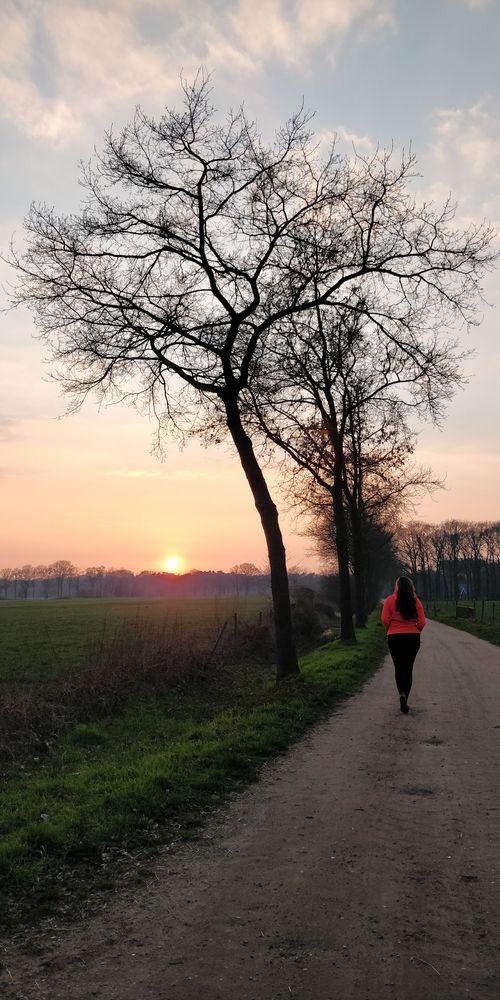 Photo in Landscape with model Monika  #sunset #evening walk #monika