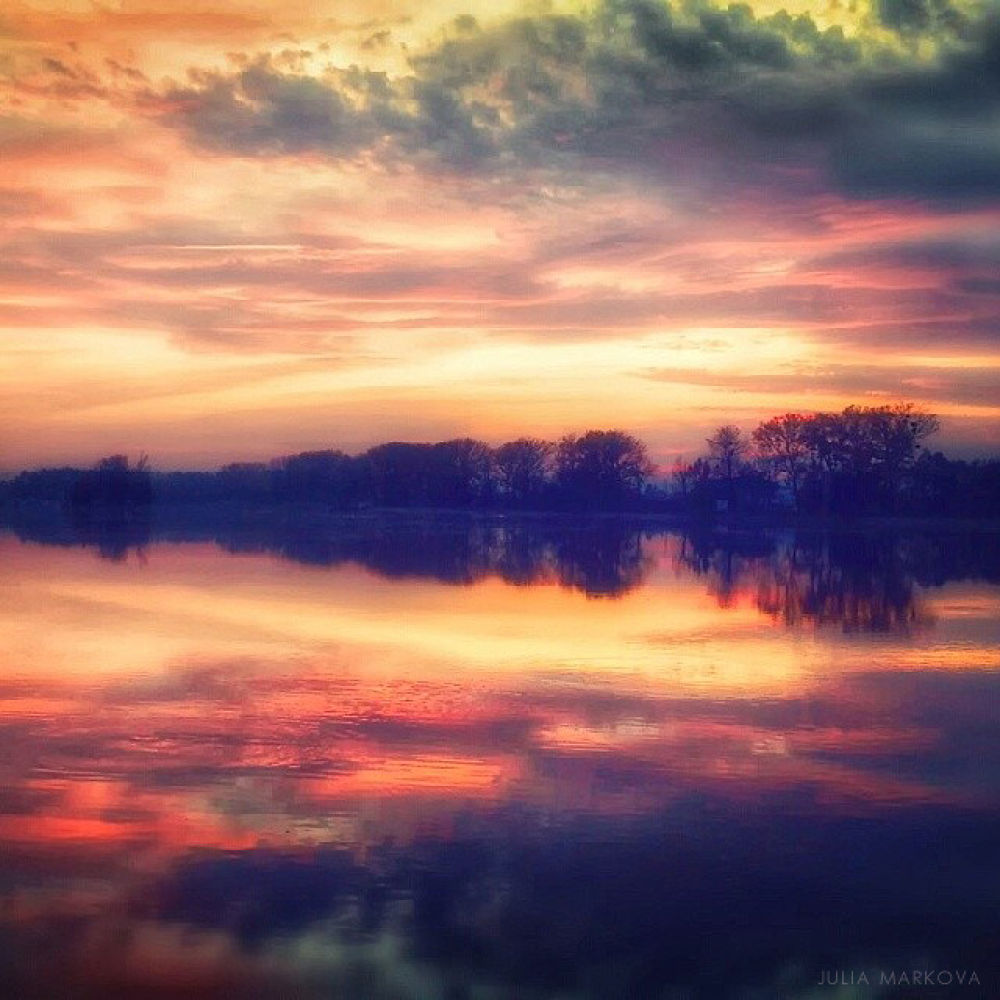 Photo in Landscape #lake #sunset