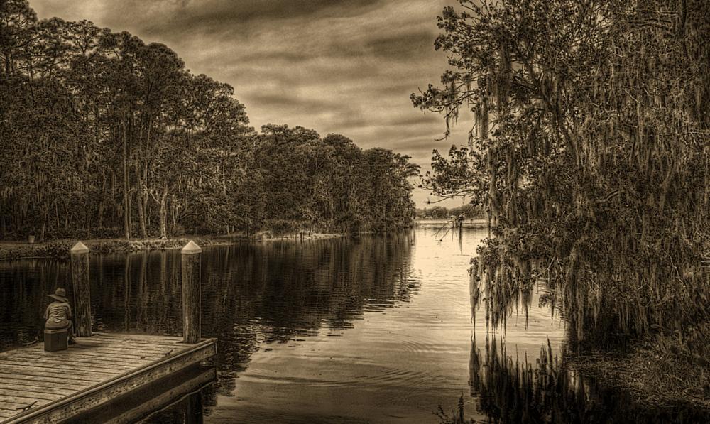 Photo in Macro #landscape #water #fishing #b+w