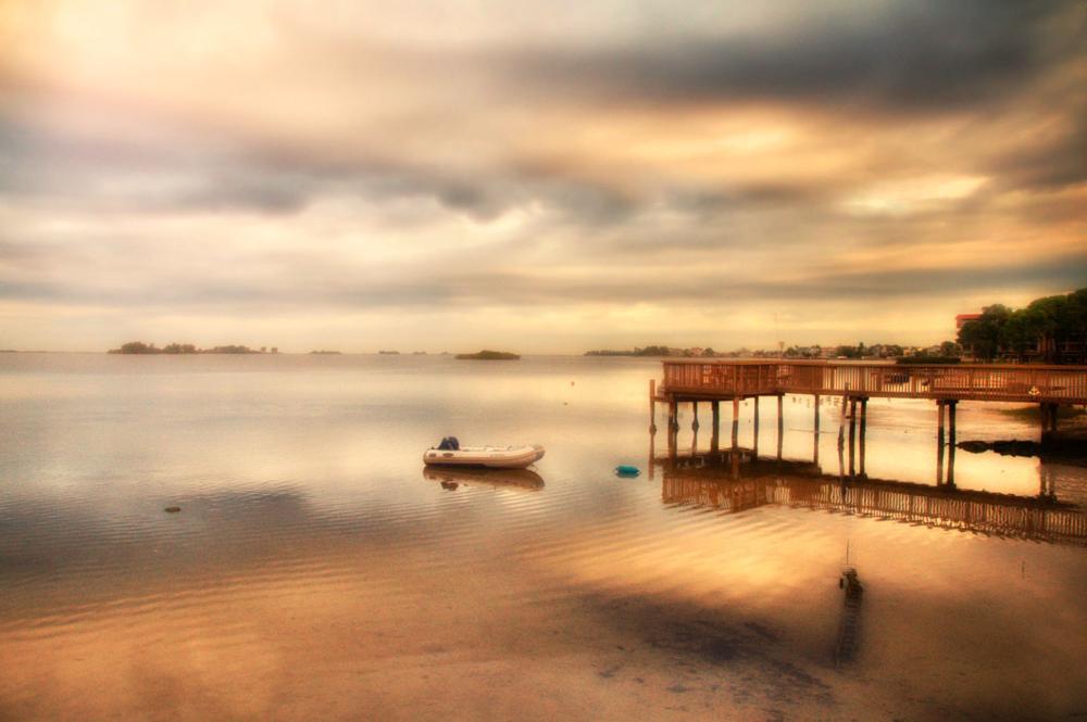 Photo in Random #sky #water #boat