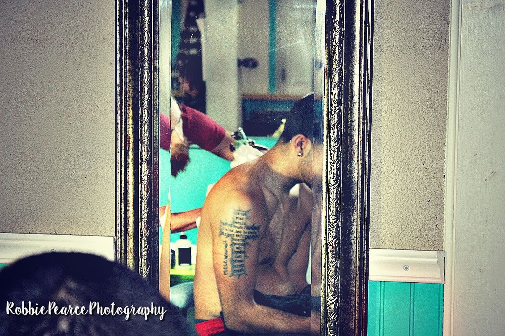 Photo in People #people #random #tattoo #back #crown #ink