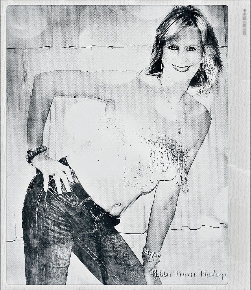 Photo in People #people #random #jeans #silver top #smile #pose #paint me a picture #'color