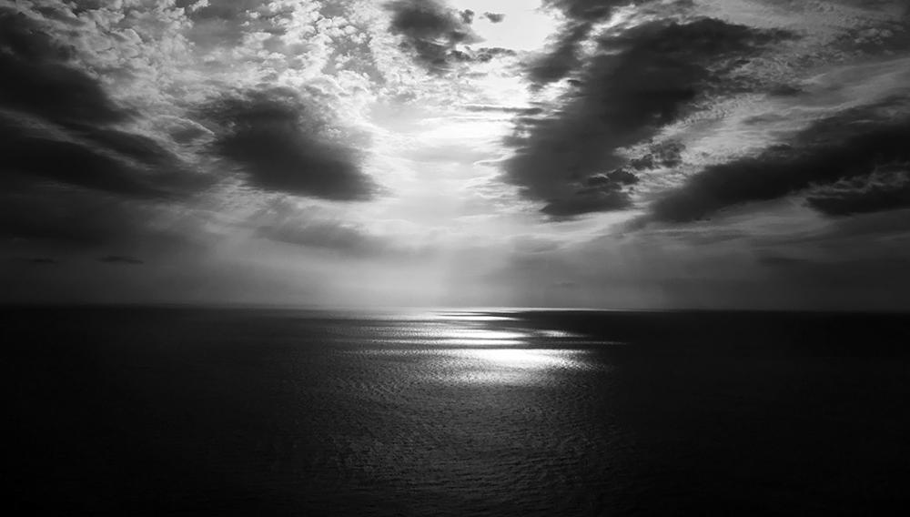 Photo in Black and White #adventure #black and white #blackandwhite #cloud #clouds #cold #fine art #foggy #grey #ireland #irlande #landscape #light #mer #mist #mysterious #nord #north #north pole #ocean #path #see #tempest #travel #view #way