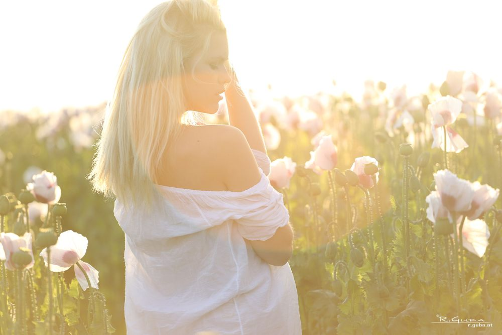 Photo in People #sunset #izzy delphine #portrait #poppies #r.guba