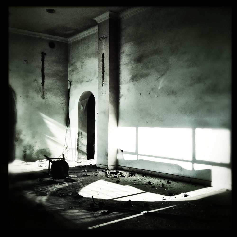Photo in Black and White #rooms #black&white #walls #buildings #places #room