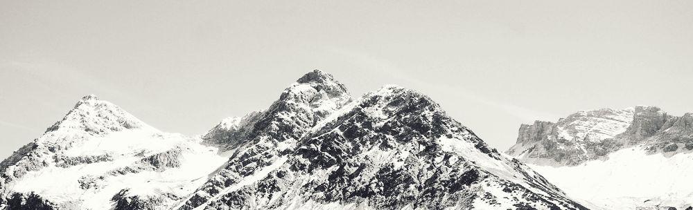 Photo in Landscape #places #travel #landscape #mountain #peaks #mountains #black&white