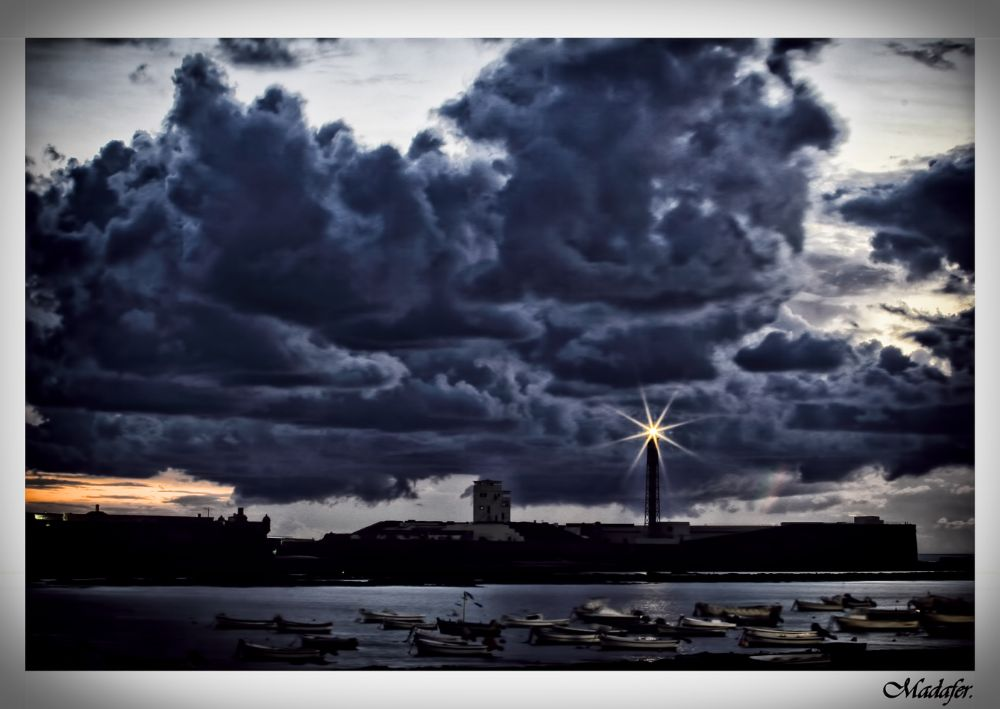 Photo in Landscape #color #faro #nubes #clouds #barquitas #caleta #mar #sea
