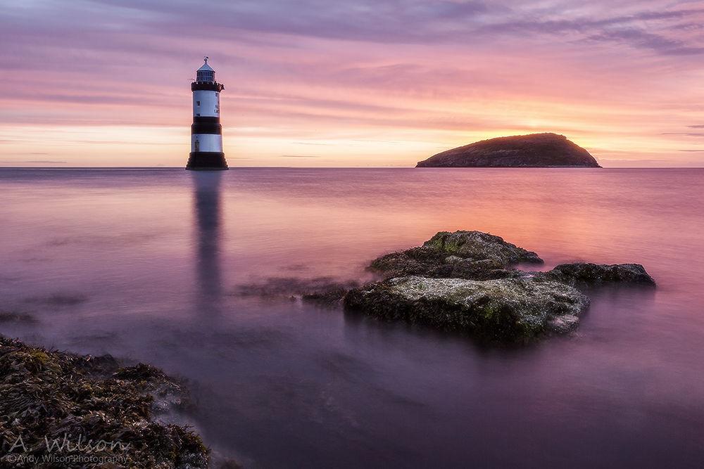 Photo in Landscape #penmon #lighthouse #rock #island #dawn #sunrise