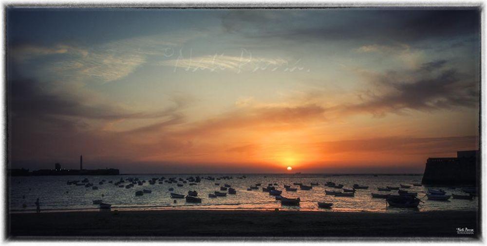 Photo in Landscape #playa #sol #atardecer #amanecer #cádiz #anadalucia españa #color #paisaje #mar