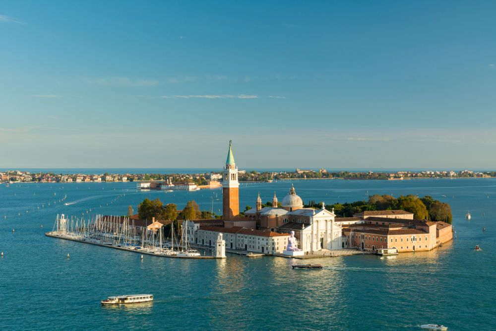 Photo in Landscape #venice #san giorgio maggiore #island #scenic #landscape #travel #italy #europe #tourism #water #canal #grand #blue