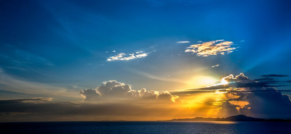 Photo in Sea and Sand #island #tropical #ocean #sun #sunshine #sunset #sea #beaches #thailand #blue #sky