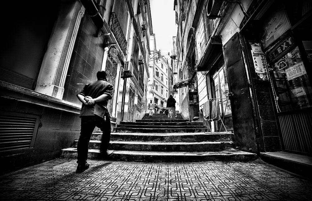 Photo in Street Photography #kasbah #casbah #algiers #b&w #street