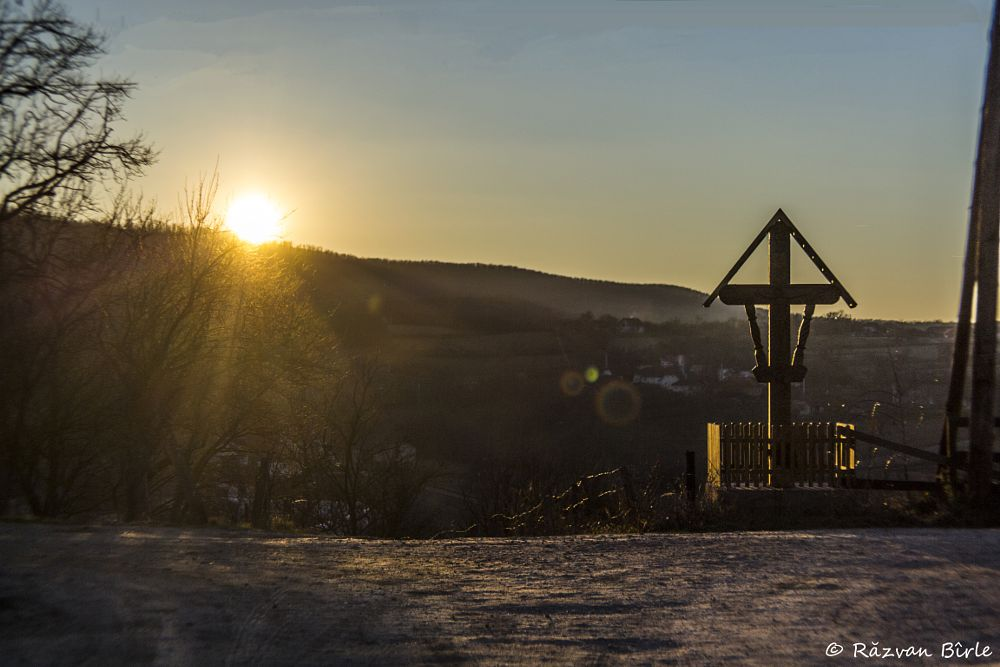 Photo in Landscape #sunset #winter #cold #end #beautiful