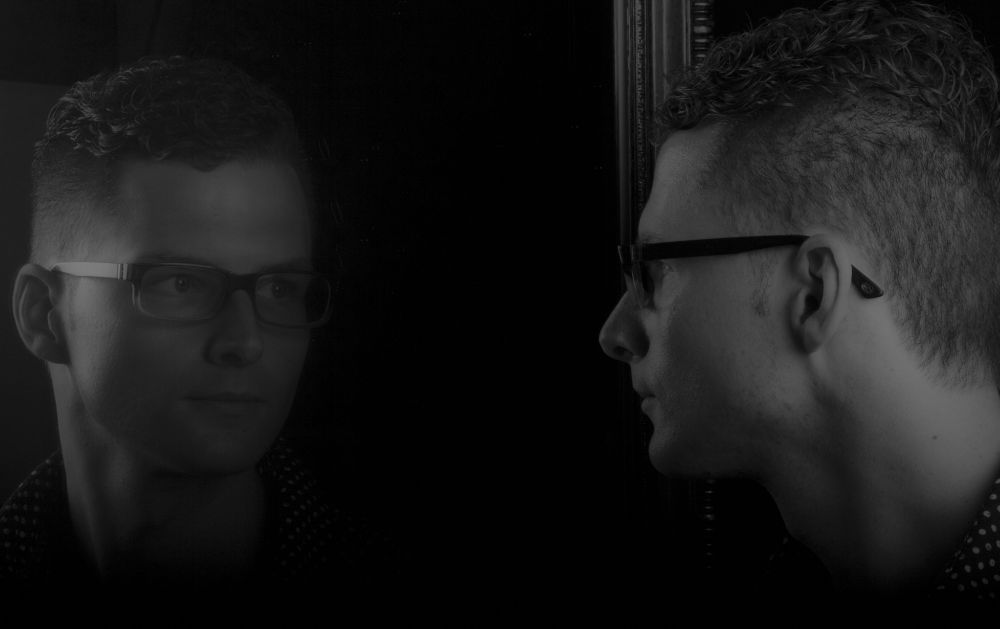 Photo in Portrait #male #black and white #mirror