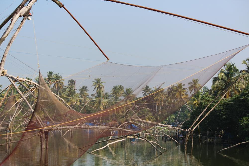 Photo in Landscape #chinese fishing nets #kerala #vagam0nda