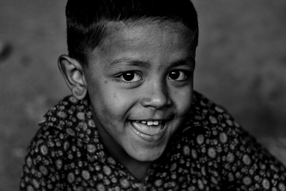 Photo in Black and White #dhaka #bangladesh #boy #kid #child #portrait #black and white