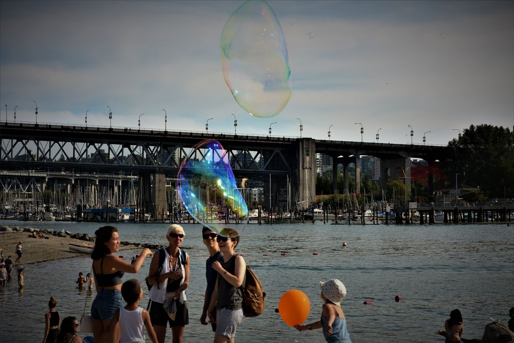Photo in Celebrities #color #bubble #children #people #beach