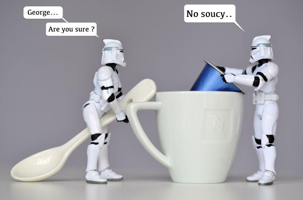 Photo in Still Life #rbkfotos #star wars #humour #nikon #disney #stormtrooper #rybak
