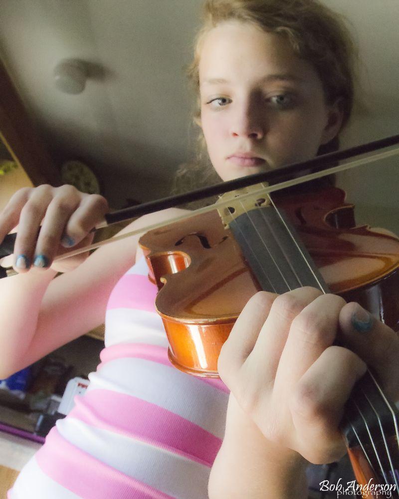 Photo in Family #violin music granddaughter #wisconsin badgerbob bob and