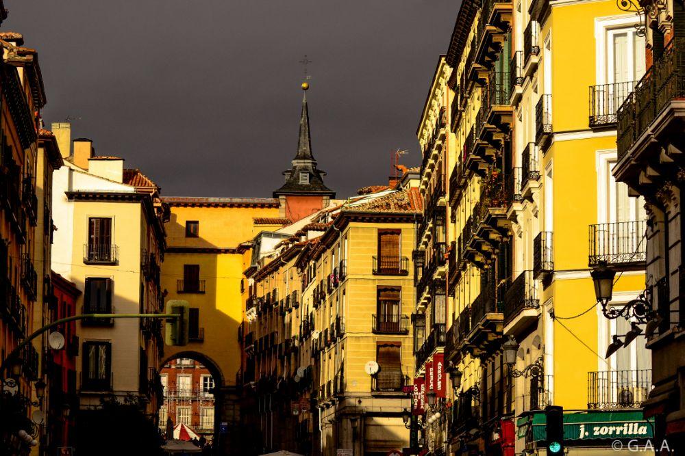 Photo in Cityscape #madrid #spain #espanha #españa #sol #plaza mayor #sun #weather #tiempo