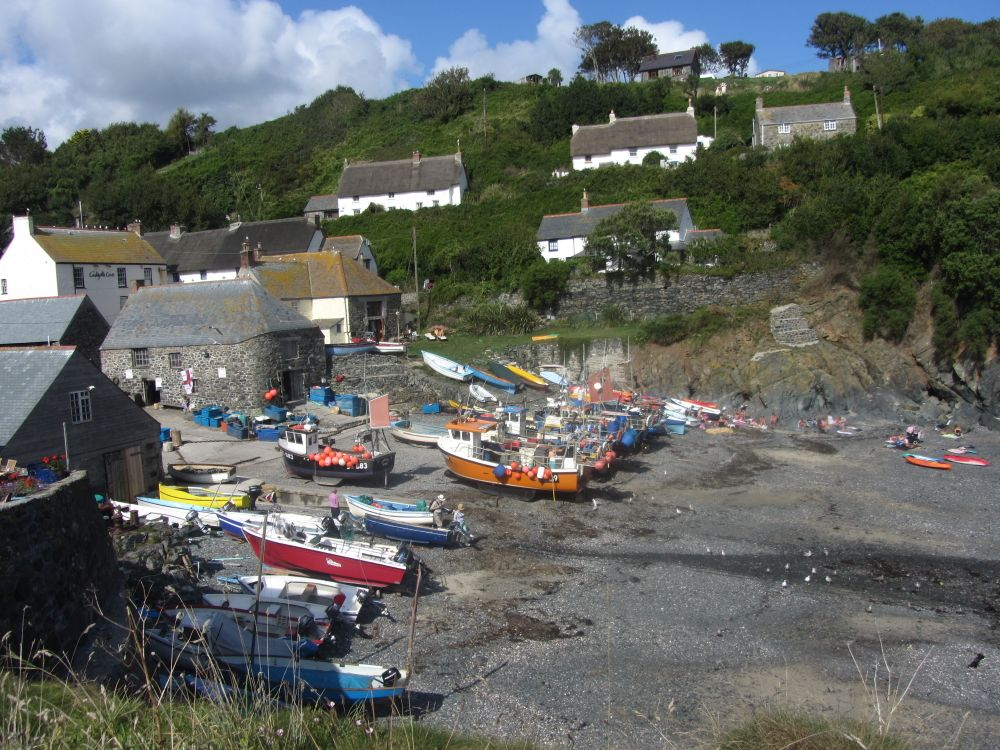 Photo in Landscape #cadgwith cove #boats #sea #cornwall #summer #fishing