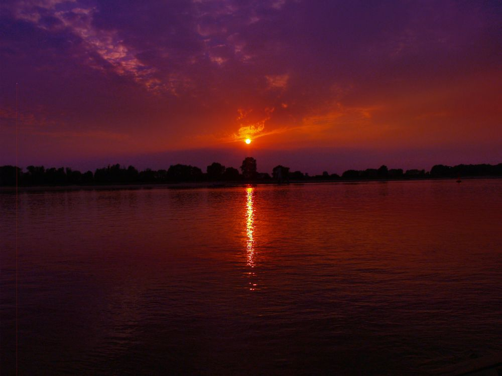 Photo in Landscape #sundown #river #natur #landscape