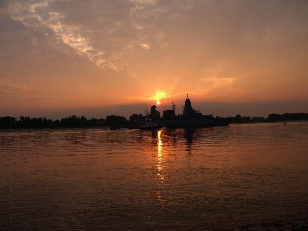 Photo in Landscape #frigate #river #sunset #nature #landscape