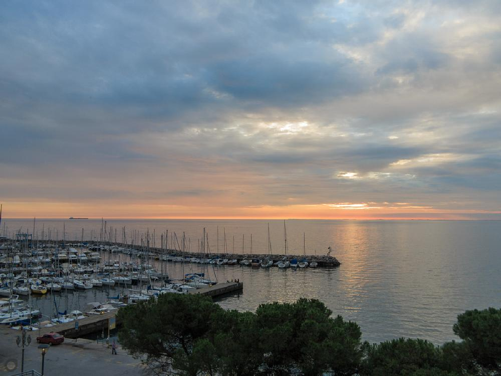 Photo in Landscape #gulf #trieste #adriatic #sea #italy #sunset #boats