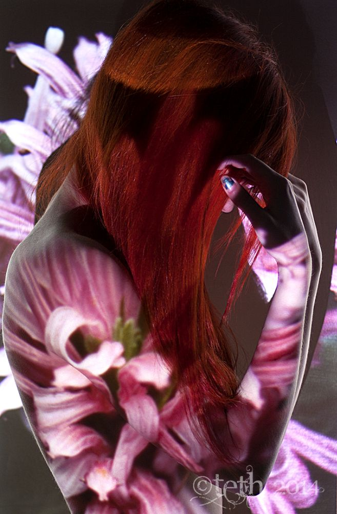 Photo in Abstract #alicerage #model #scottish #redhead #nude #implied #projection #tethphotography