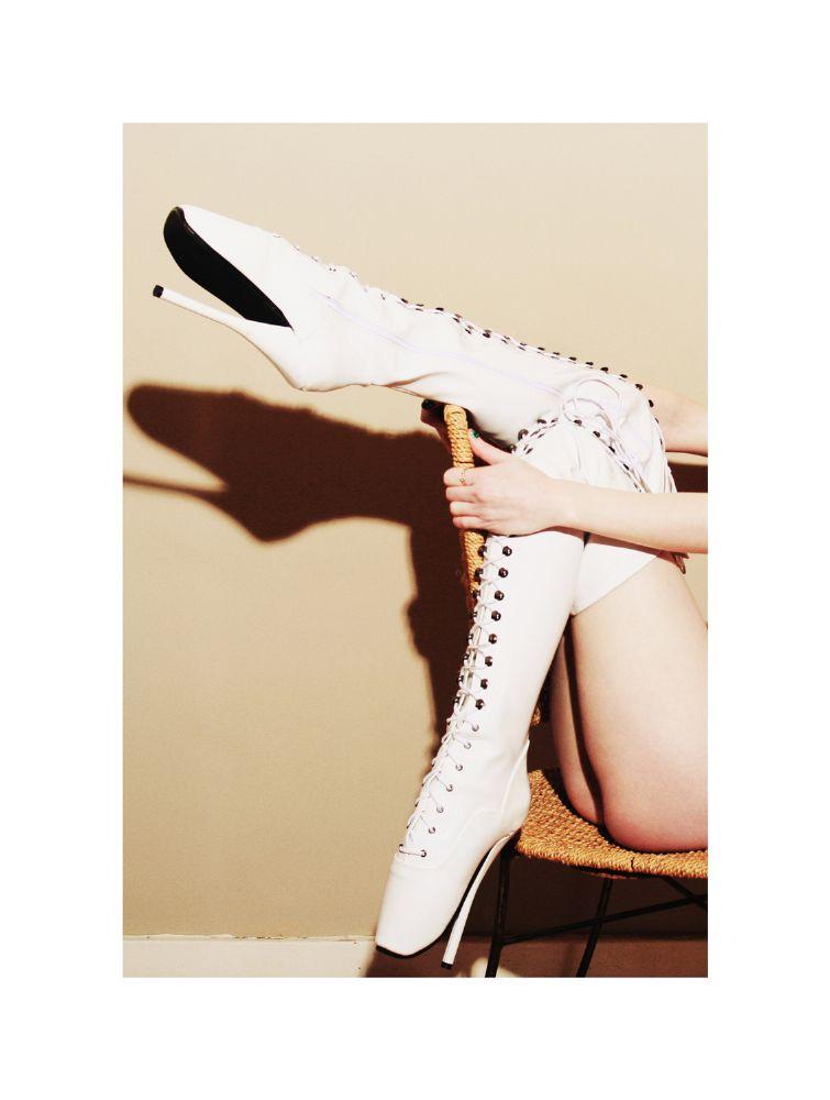 Photo in Concert #aliceragemodel #alicerage #model #boots #anonymous #ballet #leather #pvc
