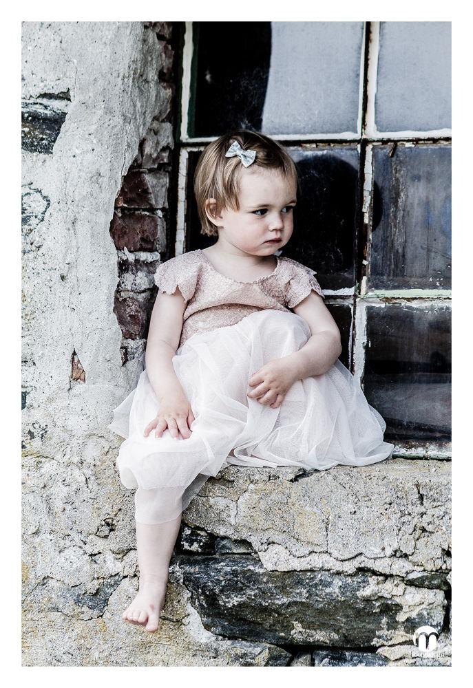 Photo in Random #girl #fress #pink #loop #window #brickwall