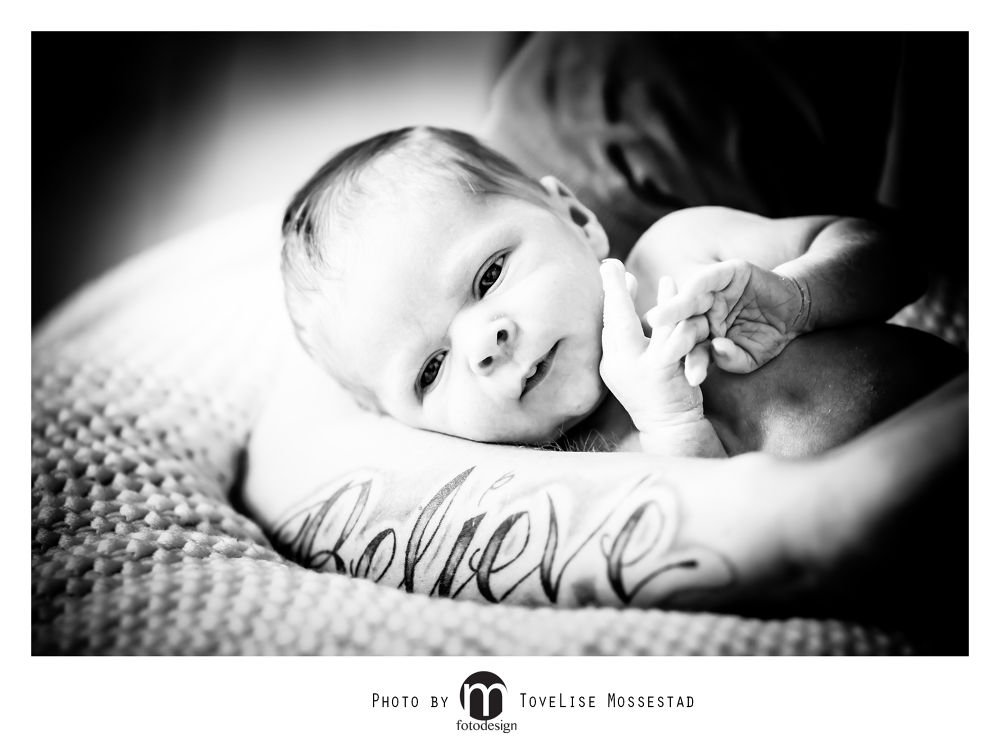 Photo in Black and White #baby #tattoo #boy #father #arm #newborn