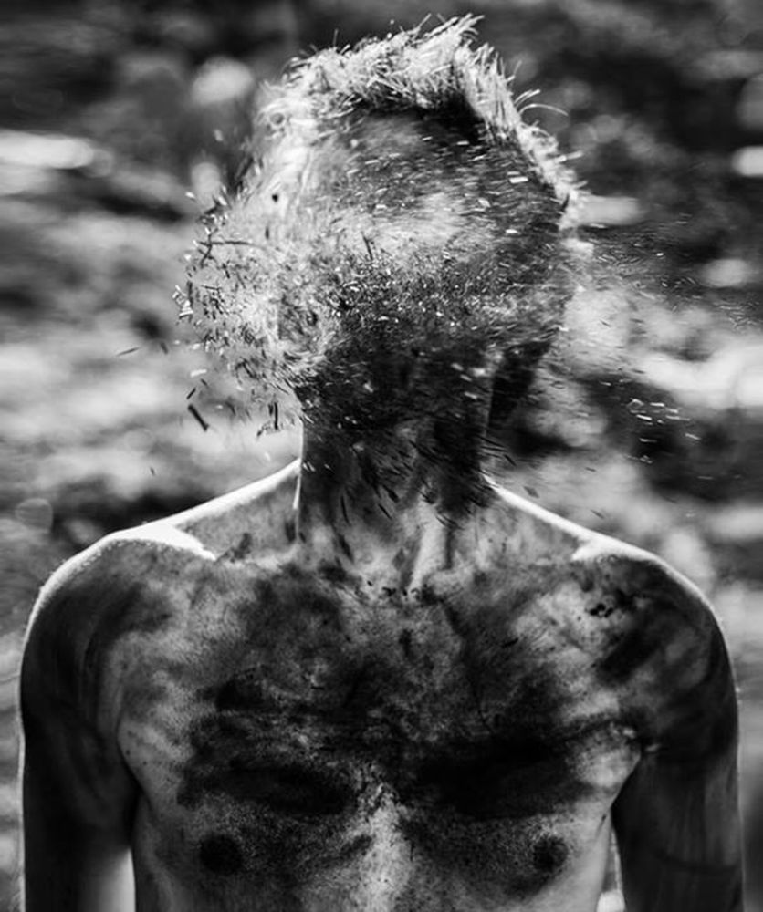 Photo in Black and White #black and white #portrait #self portrait #abstract #surreal