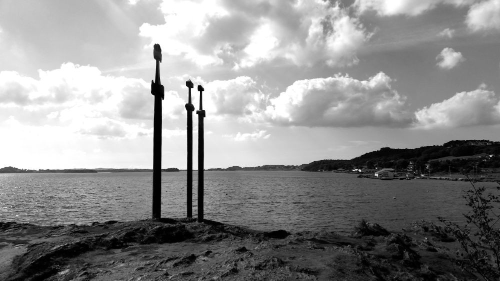 Photo in Architecture #nature #statue #vikings #blackandwhite