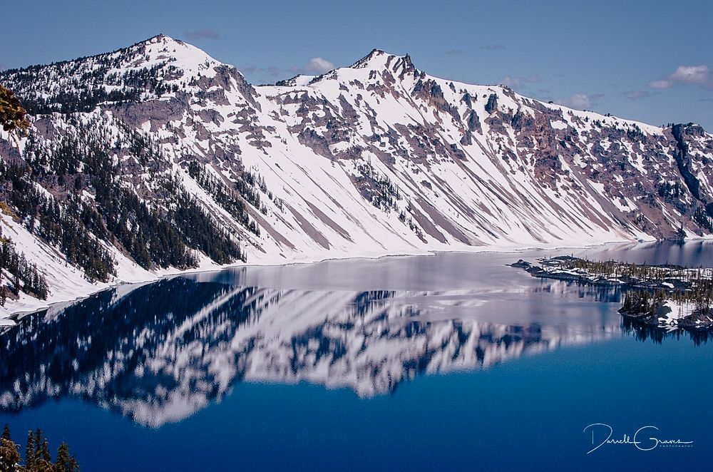 Photo in Landscape #crater lake #oregon #lake #water #snow