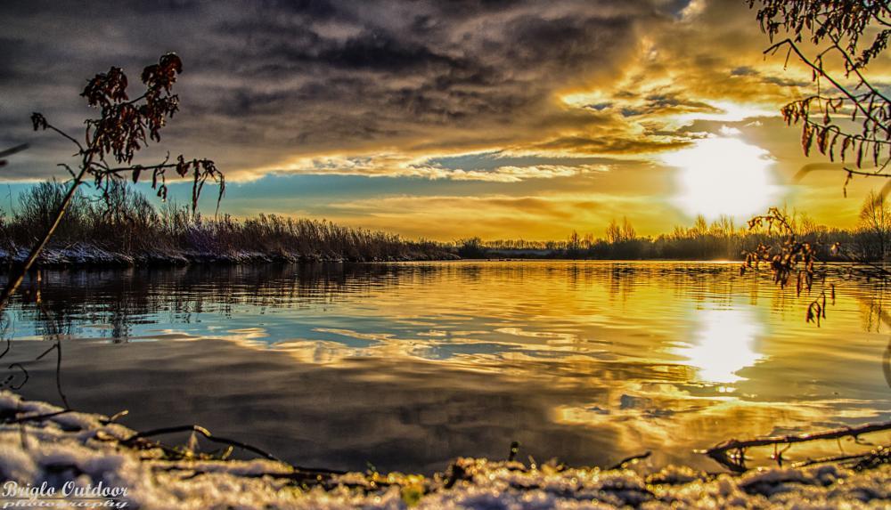 Photo in Nature #snow #ice #andijk #ijsselmeer #netherland #nature #landscape #sunset