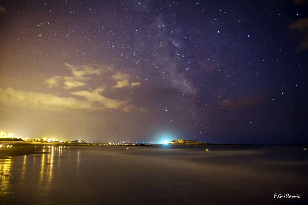 Photo in Landscape #milkyway #star #bretagne #brittany #france #space #beach