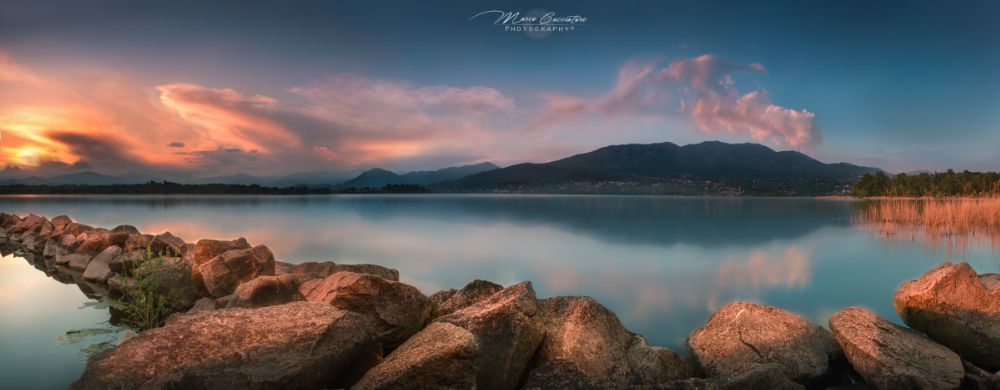 Photo in Landscape #lake #lago #varese #rocce #rock #redd #sunset #sun #mountains #montagne #tramonto #landscape #d610 #filtri