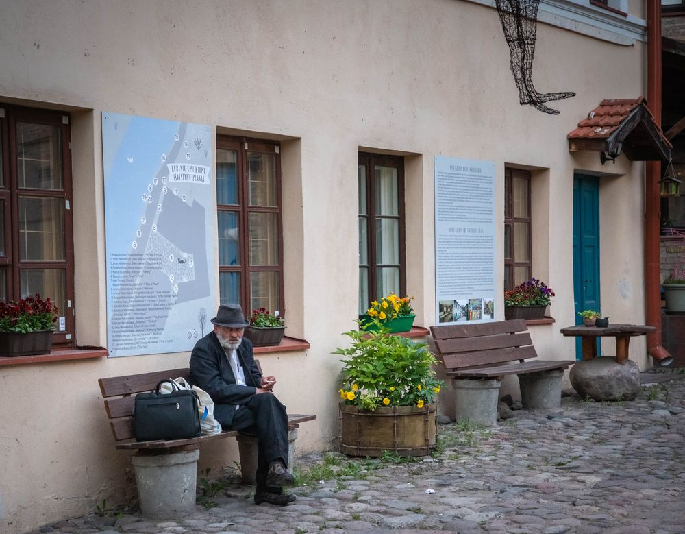 Photo in Street Photography #alone #man #cigarette #yard