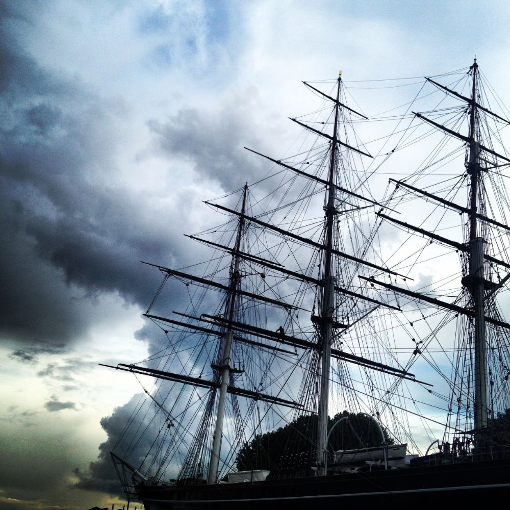 Photo in Vintage #winter #cutty sark #clouds #storm #greenwich #london #england #clipper #tea clipper #tea